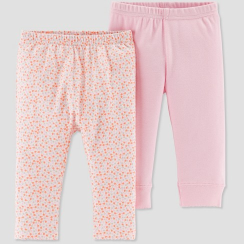 Baby Girls 2pk Multi Dot Pants Little Planet By Carter S Pink