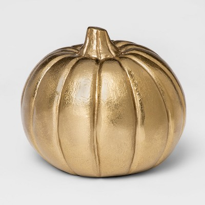 Decorative Pumpkin Figurine Small - Gold - Threshold™