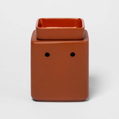 "5.2"" x 4"" Stoneware Terracotta Finish Wax Warmer Red - Threshold™"