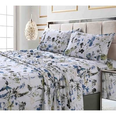 300 Thread Count Printed Pattern Sateen Pillowcase Set - Tribeca Living