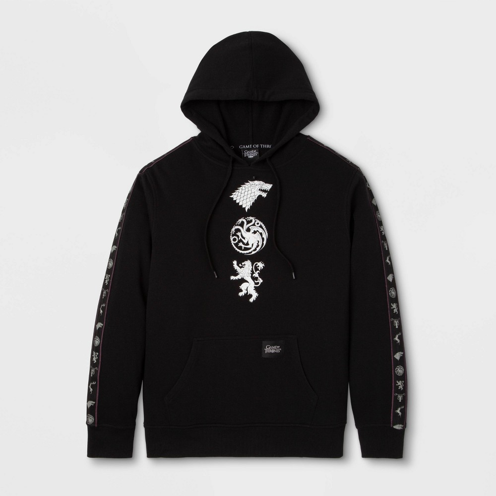 Men's Game of Thrones Hooded Fleece Graphic T-Shirt - Black M