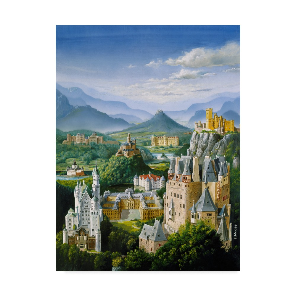 Best Trademark Fine Art 18 X 24 Harro Maass German Castles Canvas Art Multi Colored