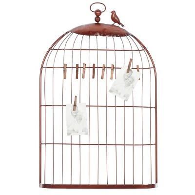 Bird Cage Themed Metal Photo Holder with Clothespins - Olivia & May