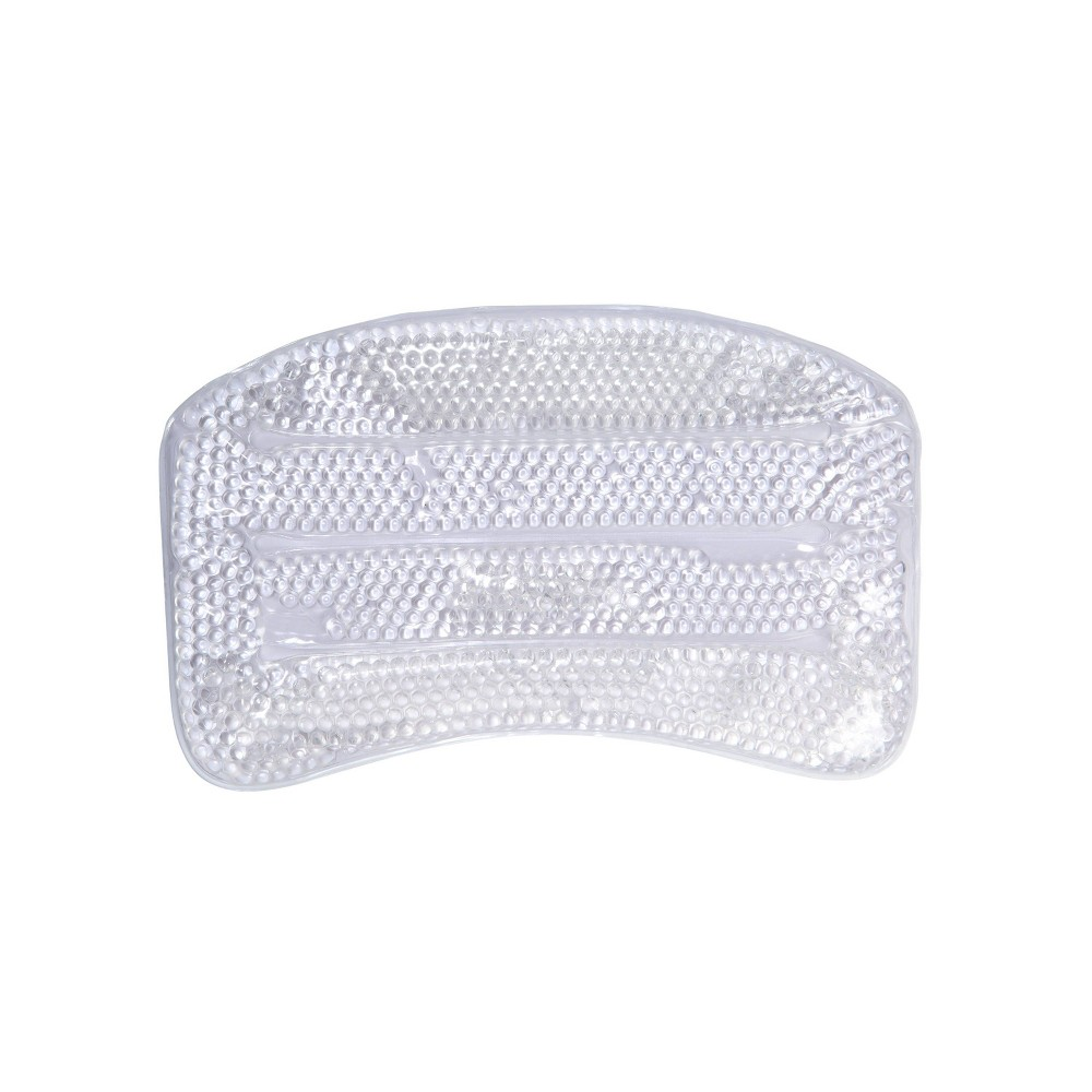 Image of Bath Pillow with Gel Beads and Suction Cups Clear - Bath Bliss
