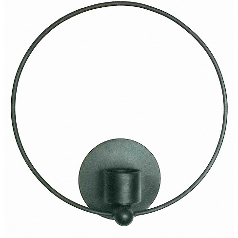 Candle Sconce Decorative Wall Sculpture Black - Project 62™ - image 1 of 2