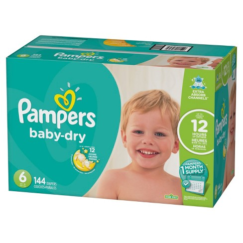 f383bf3f98d Pampers Baby Dry Diapers - Size 6 (144ct). Shop all Pampers Baby Dry
