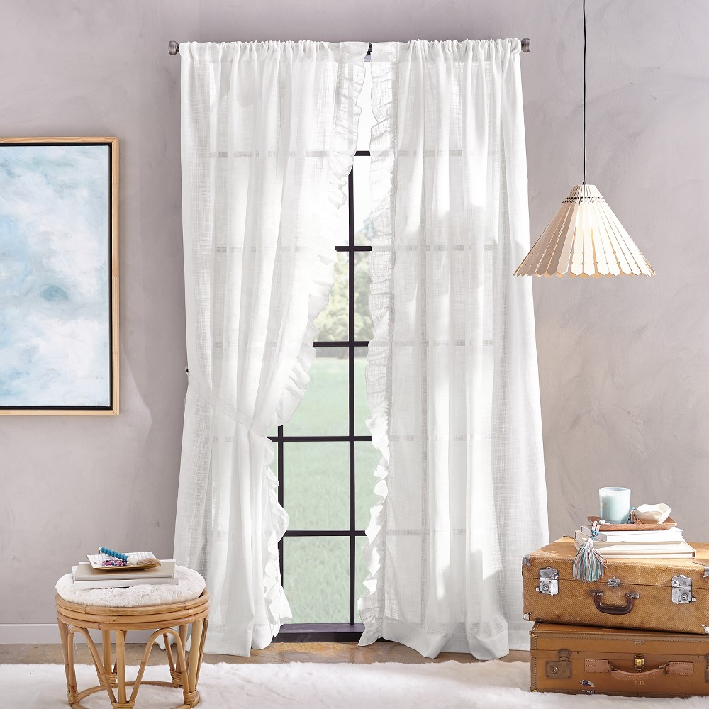 Image of 108 Arabella Flippable Curtain Panel White