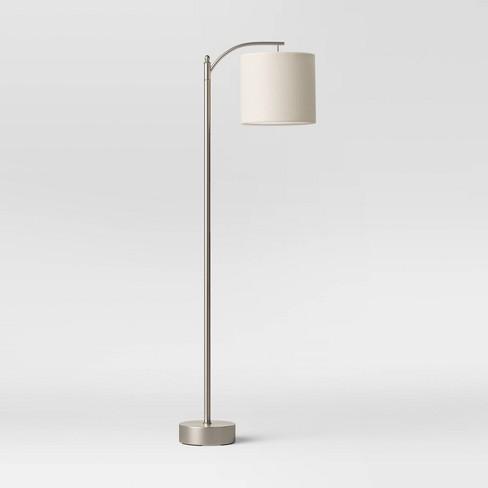 Downbridge Collection Floor Lamp Silver