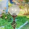 "31"" Solar Resin/Glass Crackle Ball Finial Garden Stake Bronze - Exhart - image 3 of 4"