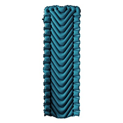 "Klymit Armored V 2 23"" Wide Rugged flexible Superfabric Lightweight Inflatable Sleeping Pad, Blue"