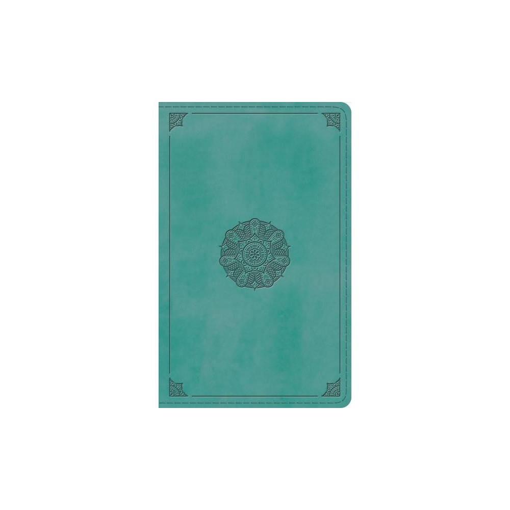 Holy Bible : English Standard Version, Turquoise, Emblem, TruTone, Thinline Bible - (Paperback)