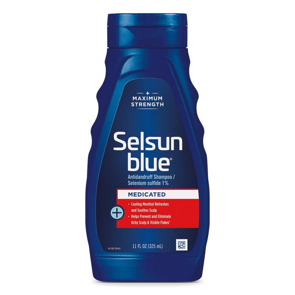 Selsun Blue Medicated With Menthol Dandruff Shampoo 11 Fl Oz
