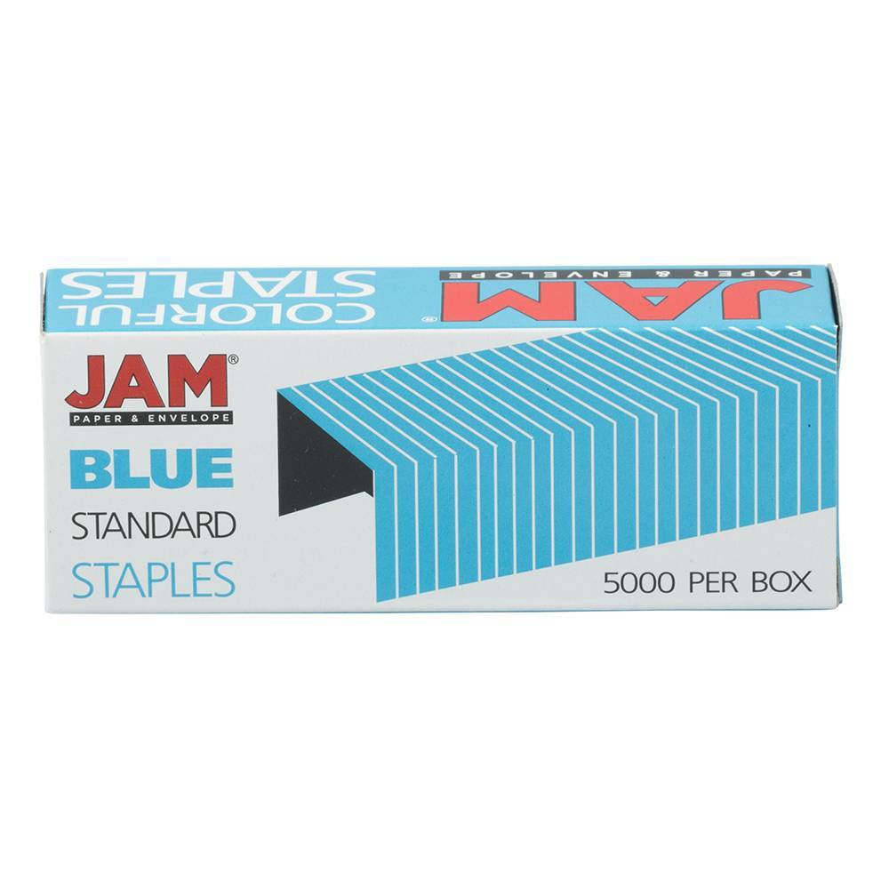 Jam Paper 5000ct Standard Size Colorful Staples Royal Blue
