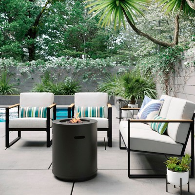 Henning 4pc Patio Fire Conversation Set Off-White - Project 62™