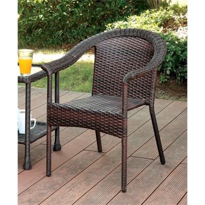 Onwing Patio Wicker Chair In Espresso   Furniture Of America