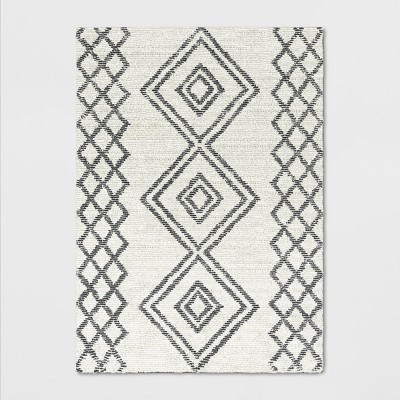 5'X7' Hand Tufted Tribal Rug Off-White - Project 62™