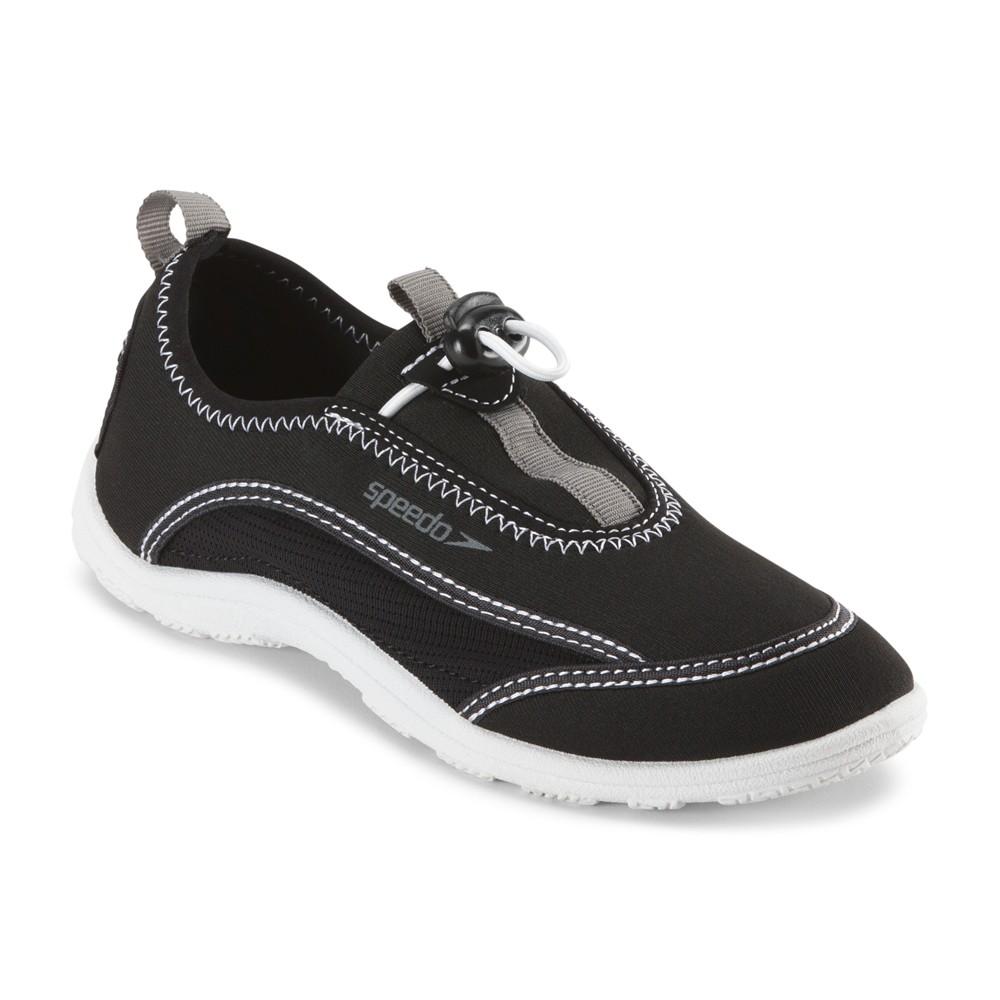 Speedo Jr Boys Surfwalker Water Shoes - Black (Medium)