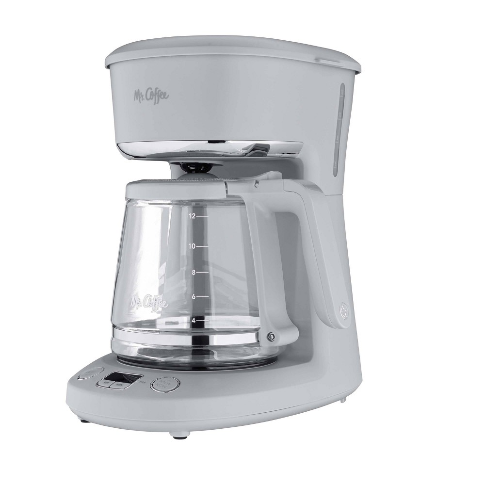 Mr Coffee Programmable 12 Cup Coffee Maker Pewter