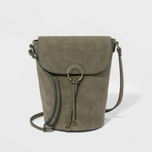 Flap Bucket Bag with Ring - Universal Thread™ - image 1 of 4