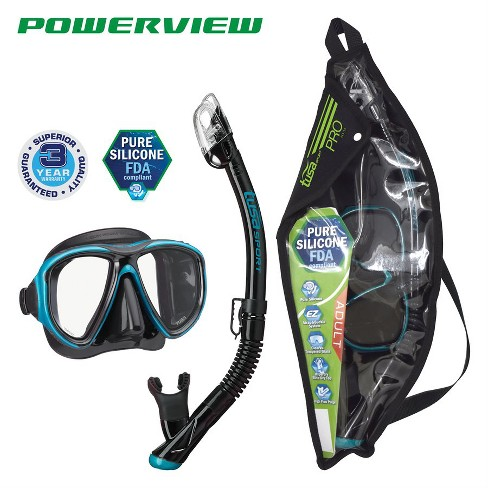 Tusa Powerview Adult Dry Mask and Snorkel Combo - image 1 of 4