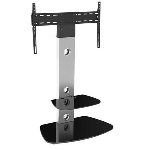 Tv Stand With Tv Mounting Column 65 Silver Black Avf Target