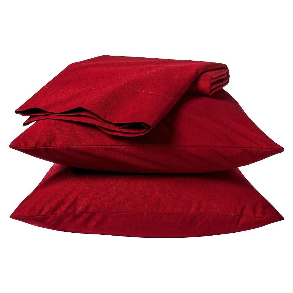 Easy Care Sheet Set (Full) Carmen Red - Room Essentials