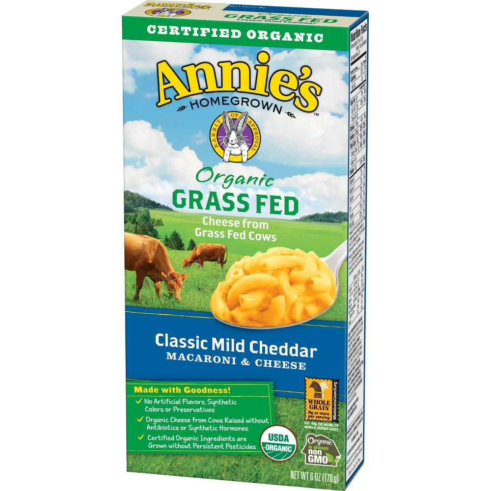 Annie S Organic Grassfed Classic Mild Cheddar Flavor Macaroni Cheese 6oz