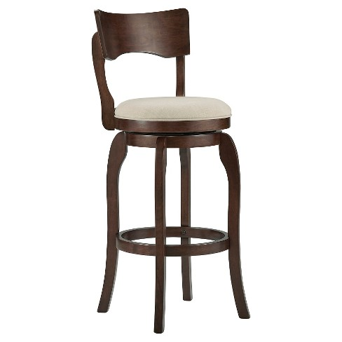 "Calder Swivel 29"" Barstool Wood/Oatmeal - Inspire Q - image 1 of 4"