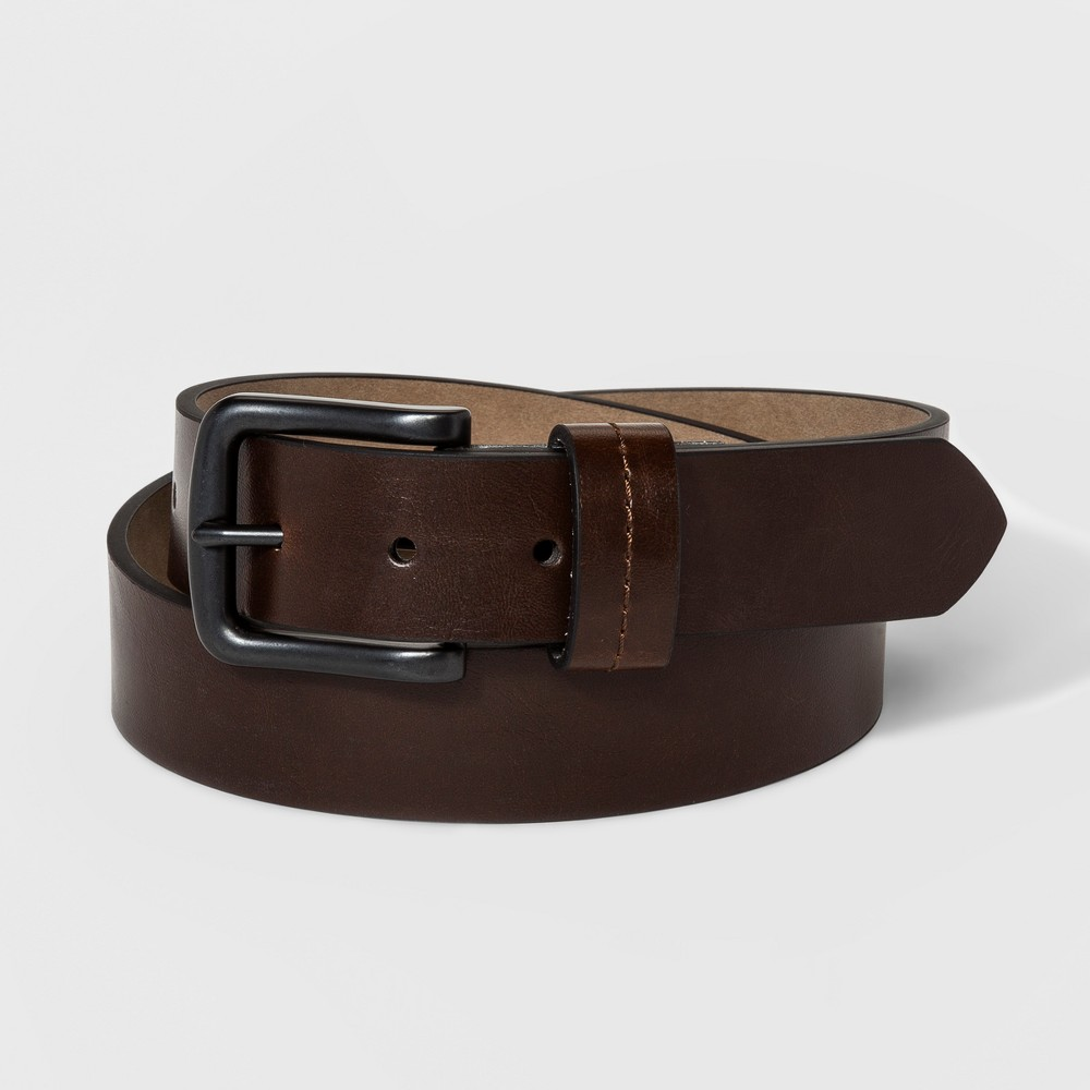 Image of Men's 35mm St Loop Belt - Goodfellow & Co Brown XL