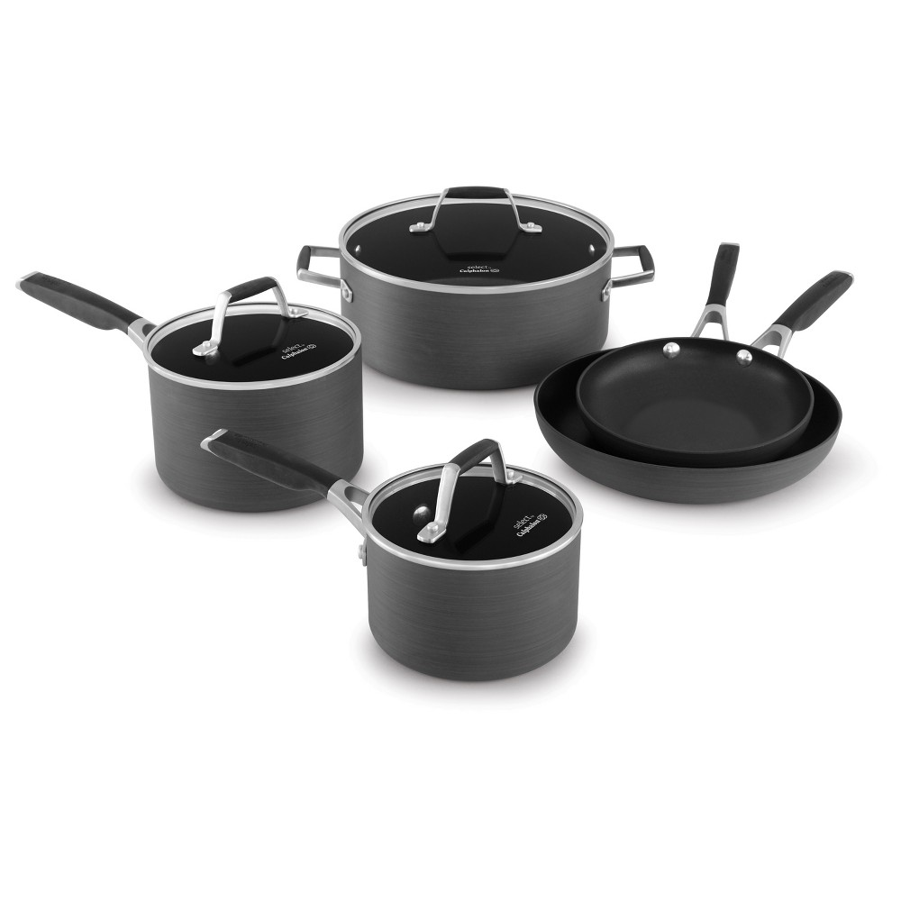 Select by Calphalon 8pc Hard-Anodized Non-Stick Cookware Set, Black