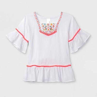 Baby Girls' Kimono Sleeve Cover-Up - Cat & Jack™ White 9M
