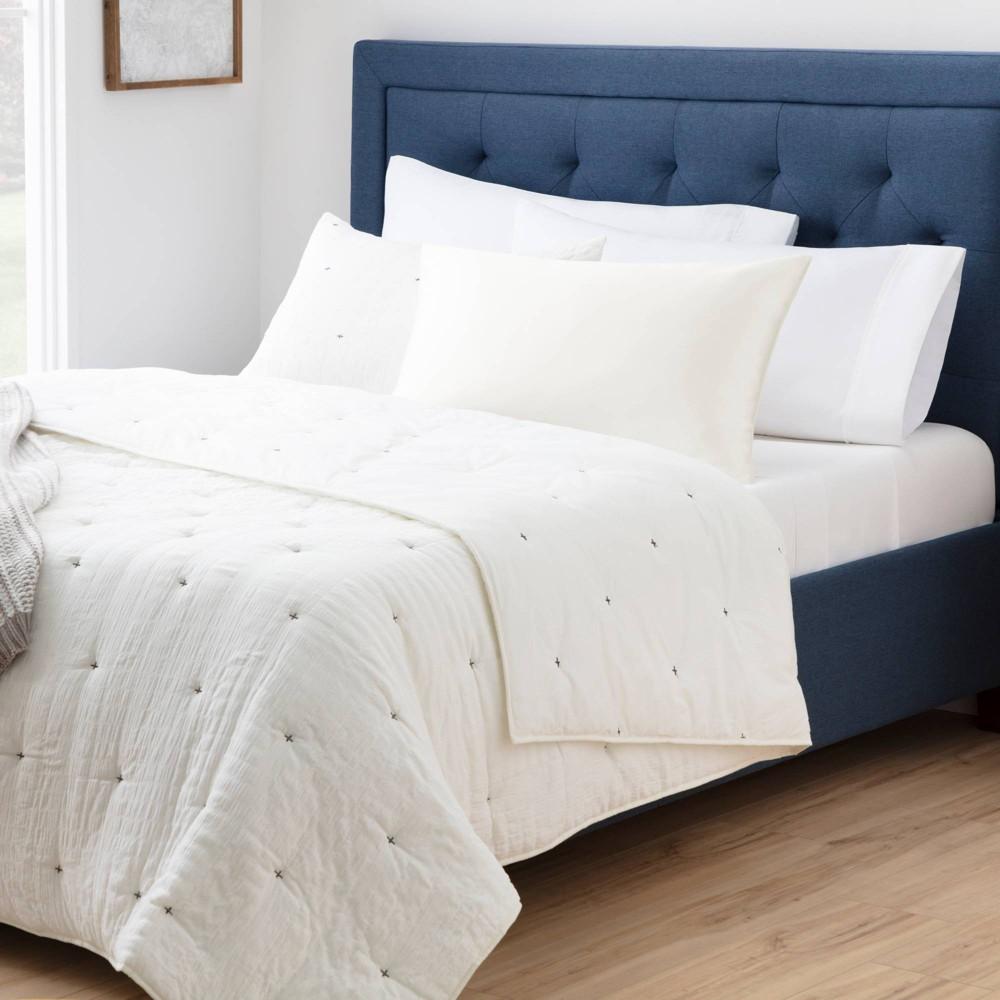 King Silk Pillowcase Ivory Brookside