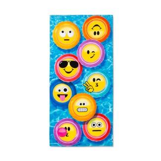 Emoji Beach Towel Blue/Yellow - Emojination