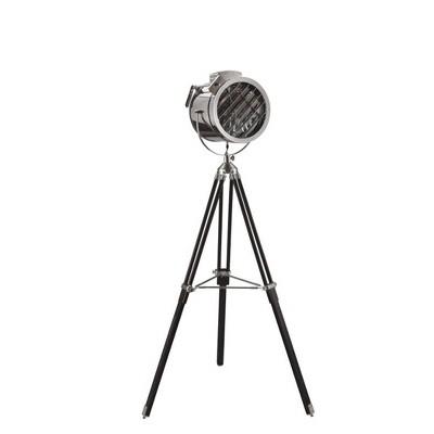 "66"" Novelty Metal Tripod Spotlight Lamp Black - Ore International"