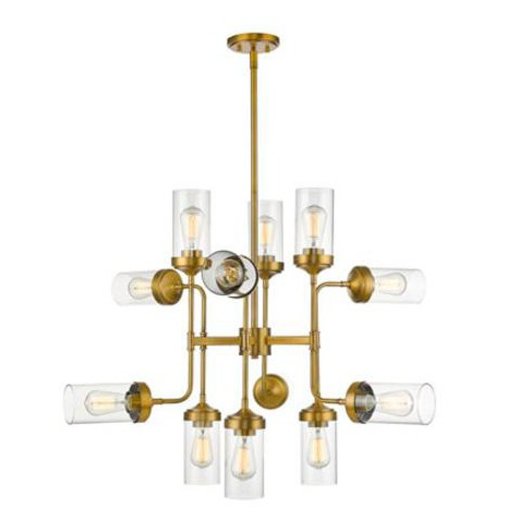 """Z-Lite 617-12 Calliope 12 Light 36"""" Wide Two Tier Abstract Chandelier - image 1 of 1"""