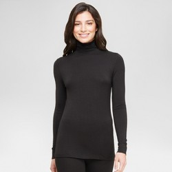 Warm Essentials® by Cuddl Duds® Women's Smooth Stretch Thermal Long Sleeve Turtle Neck Top