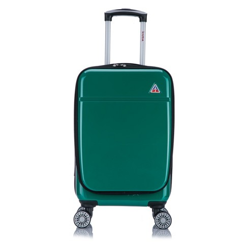 "InUSA Avila 20"" Hardside Spinner Carry On Suitcase - Green - image 1 of 5"