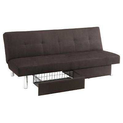 Bon Sola Storage Futon Black   Dorel Home Products : Target