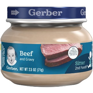 Gerber Baby 2nd Foods Beef & Gravy - 2.5oz