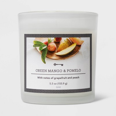 5.5oz Glass Jar Green Mango and Pomelo Candle - Threshold™
