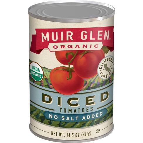 Muir Glen Organic Diced Tomatoes No Salt Added - 14.5oz - image 1 of 4