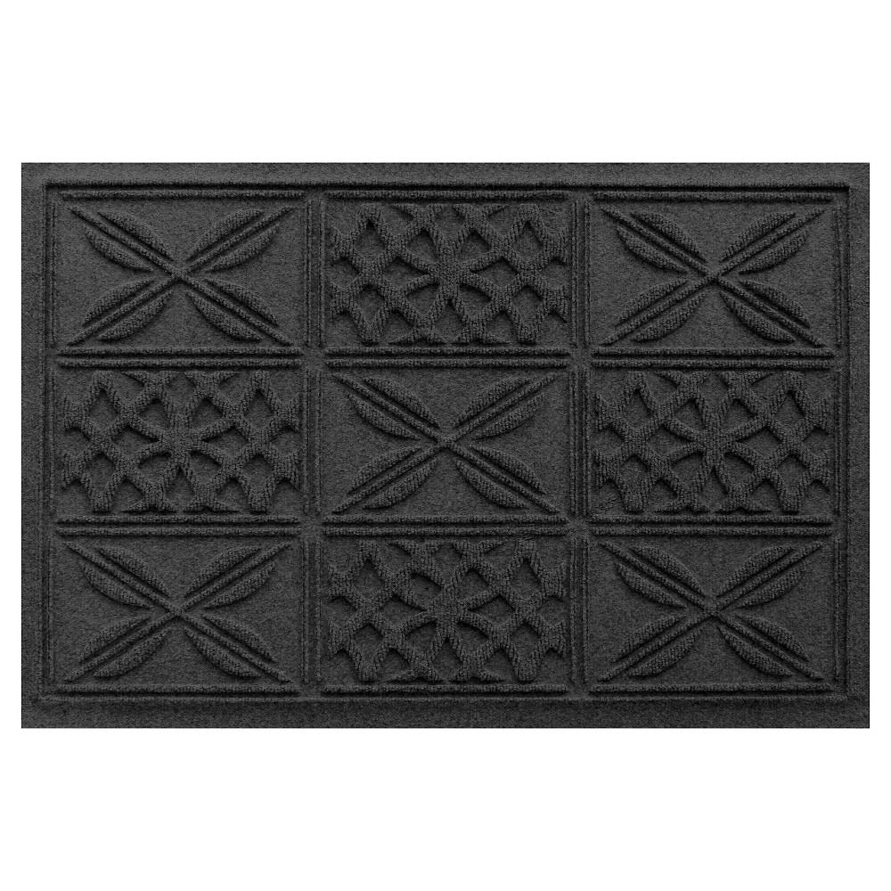 Charcoal (Grey) Solid Pressed Doormat - (2'X3') - Bungalow Flooring