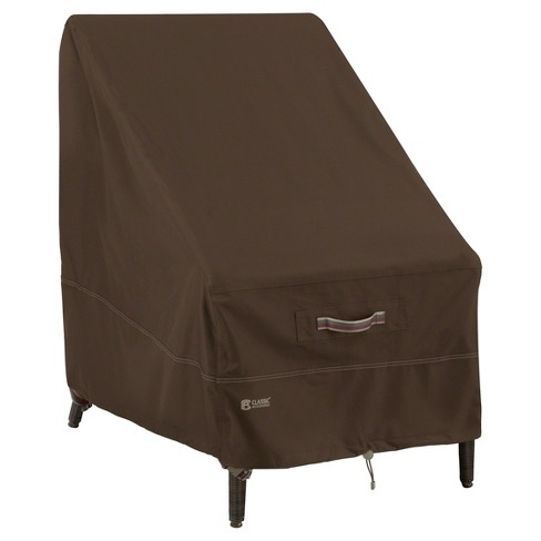 Madrona High Back Patio Chair Cover Dark Cocoa Target