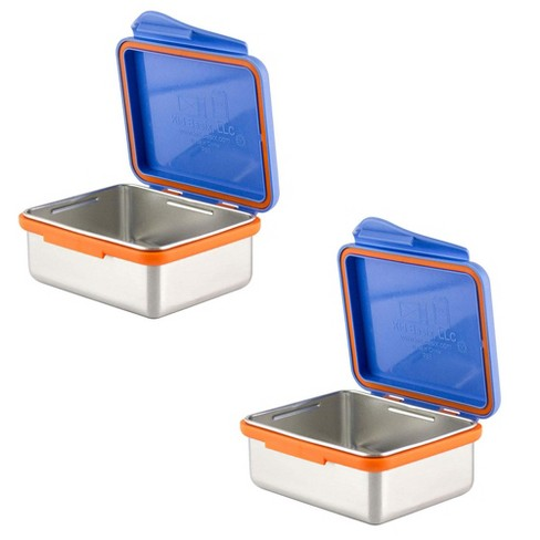 Kid Basix 13 Ounce Reusable Lunch Container with Attached Lid, Blue (2-pack) - image 1 of 4