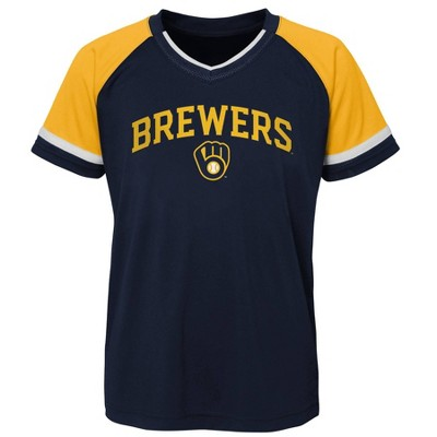 MLB Milwaukee Brewers Boys' Pullover Jersey