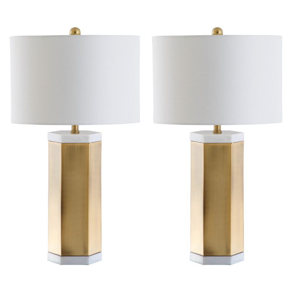 Alya Table Lamp White/Brass Gold 15