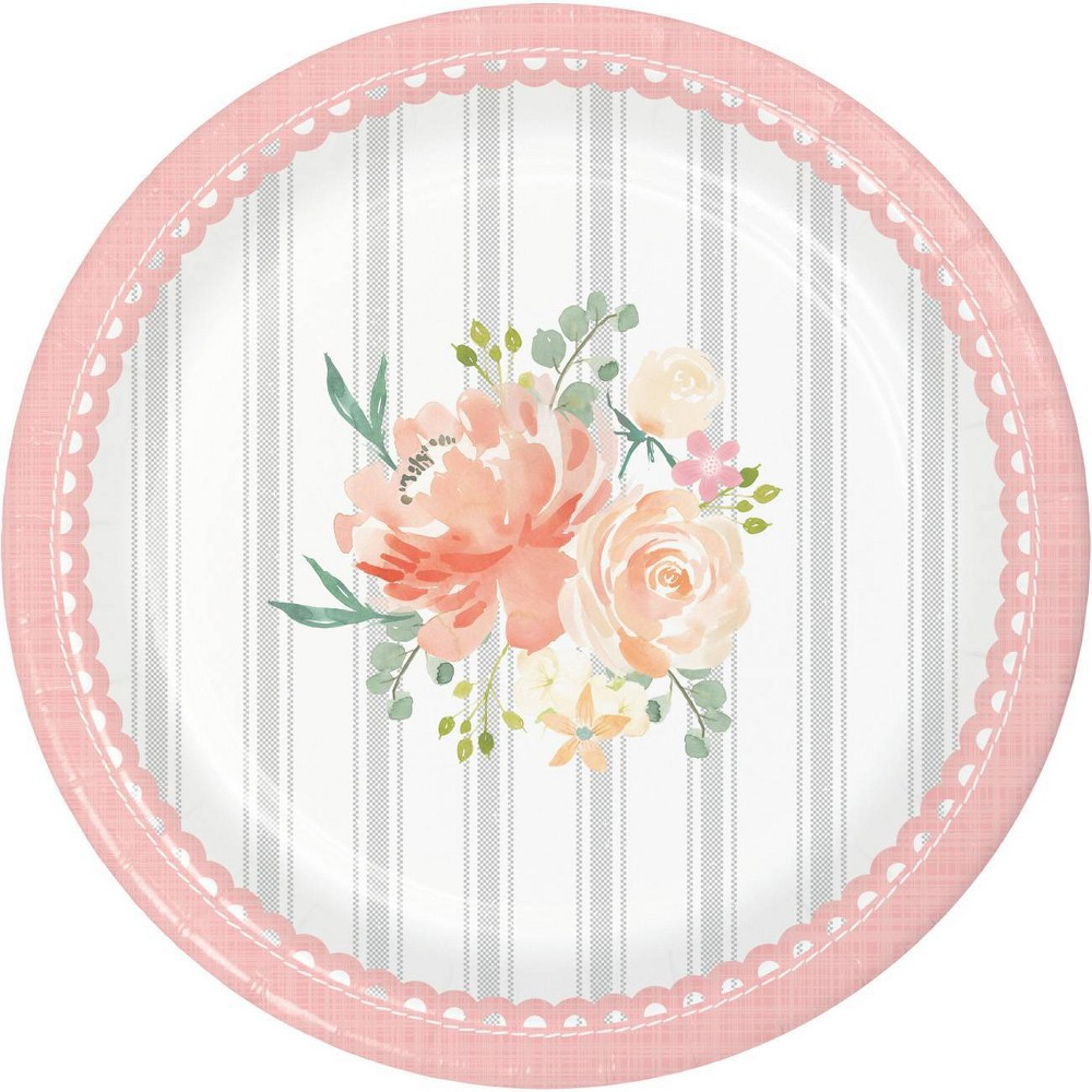 24ct Country Floral Dessert Plates