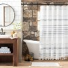 Stitch Stripe Shower Curtain - Hearth & Hand™ with Magnolia - image 2 of 4