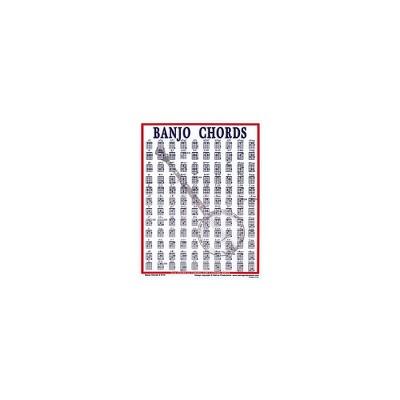 Walrus Productions Banjo Chord Mini Chart