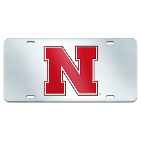 NCAA Acrylic Inlaid License Plate Frame University of Nebraska : Target